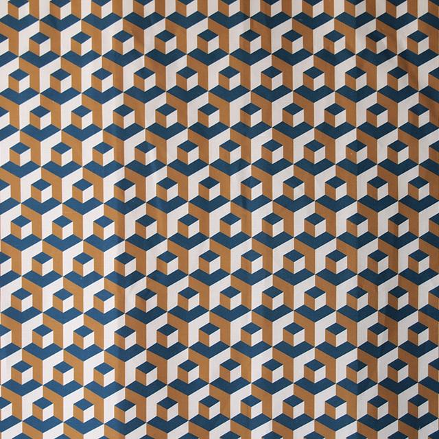 Cubo-Cenote-Miel/Crema ivan meade fabric