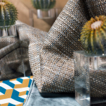 Cactus, Cubo in Miel/Cenote/Crema, Seda in Cenote, Ivan Meade Signature Pillow in Miel, Textura in Miel, Crystal
