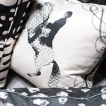 Grabado in Carbon, Jinete 2, Pirita in Carbon, Ivan Meade Pillows