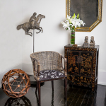 Chair, Cabinet, Dodecahedron, Concrete Horse Sculpture, Mirror, Mariposa, Asian, Traditional